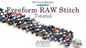 How to Bead Jewelry / Videos Sorted by Beads / Potomac Crystal Videos / FreeForm Raw Stitch Bracelet Tutorial