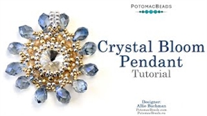 How to Bead / Free Video Tutorials / Pendant Projects / Crystal Bloom Pendant Tutorial