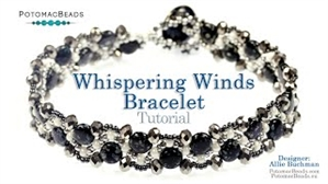 How to Bead Jewelry / Videos Sorted by Beads / Potomac Crystal Videos / Whispering Winds Bracelet Tutorial