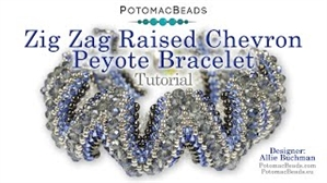 How to Bead / Videos Sorted by Beads / Potomac Crystal Videos / Zig Zag Raised Chevron Peyote Bracelet Tutorial