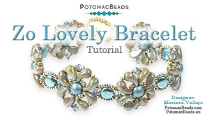 How to Bead Jewelry / Videos Sorted by Beads / RounTrio® & RounTrio® Faceted Bead Videos / Zo Lovely Bracelet Tutorial