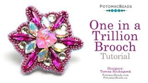 How to Bead Jewelry / Videos Sorted by Beads / Potomac Crystal Videos / One in a Trillion Brooch Tutorial