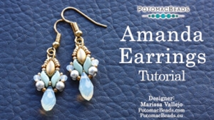 How to Bead Jewelry / Videos Sorted by Beads / Potomac Crystal Videos / Amanda Earrings Tutorial