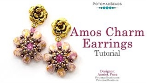 How to Bead Jewelry / Videos Sorted by Beads / Potomac Crystal Videos / Amos® Charm Earrings Tutorial