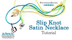 How to Bead Jewelry / Beading Tutorials & Jewel Making Videos / Stringing & Knotting Projects / Slip Knot Satin Necklace