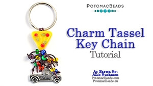 How to Bead / Free Video Tutorials / Stringing & Knotting Projects / Tassel Charm Key Chain