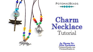 How to Bead / Free Video Tutorials / Stringing & Knotting Projects / Charm Necklace