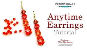How to Bead Jewelry / Videos Sorted by Beads / Potomac Crystal Videos / Anytime Earrings Tutorial