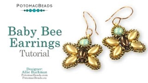 How to Bead Jewelry / Videos Sorted by Beads / IrisDuo® Bead Videos / Baby Bee Earrings Tutorial