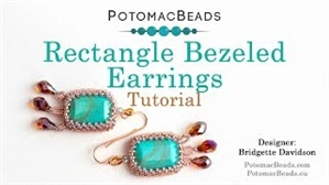 How to Bead Jewelry / Videos Sorted by Beads / Potomac Crystal Videos / Bezeled Rectangle Earrings Tutorial