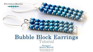 How to Bead Jewelry / Videos Sorted by Beads / Potomac Crystal Videos / Bubble Block Earrings Tutorial