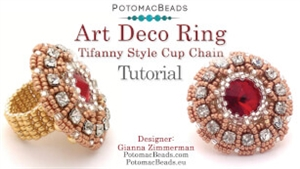 How to Bead Jewelry / Videos Sorted by Beads / Potomac Crystal Videos / Art Deco Ring Tutorial
