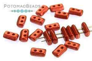 Czech Glass / 2-Hole Beads / Piros par Puca® Beads
