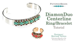 How to Bead / Free Video Tutorials / Bracelet Projects / DiamonDuo Centerline Ring Tutorial