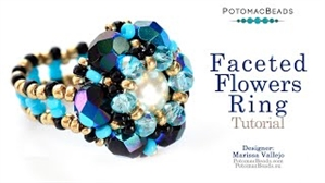 How to Bead Jewelry / Videos Sorted by Beads / Potomac Crystal Videos / Faceted Flowers Rings Tutorial