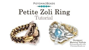 How to Bead Jewelry / Videos Sorted by Beads / ZoliDuo and Paisley Duo Bead Videos / Petite Zoli Ring Tutorial