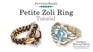 How to Bead Jewelry / Videos Sorted by Beads / IrisDuo® Bead Videos / Petite Zoli Ring Tutorial