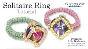 How to Bead Jewelry / Videos Sorted by Beads / Potomac Crystal Videos / Solitaire Ring Tutorial