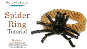 How to Bead Jewelry / Videos Sorted by Beads / RounDuo® & RounDuo® Mini Bead Videos / Spider Ring Tutorial