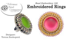 How to Bead Jewelry / Videos Sorted by Beads / Cabochon Videos / Embroidered Rings Tutorial