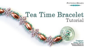 How to Bead Jewelry / Beading Tutorials & Jewel Making Videos / Bracelet Projects / Tea Time Bracelet Tutorial