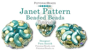 How to Bead / Videos Sorted by Beads / Par Puca® Bead Videos / Janet Pattern Beaded Beads Tutorial