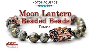How to Bead / Videos Sorted by Beads / Gemstone Videos / Moon Lantern (Beaded Beads) Tutorial