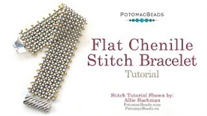 How to Bead / Videos Sorted by Beads / Seed Bead Only Videos / Flat Chenille Stitch Bracelet