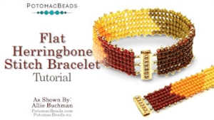 How to Bead / Videos Sorted by Beads / Seed Bead Only Videos / Flat Herringbone Stitch Bracelet Tutorial