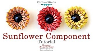 How to Bead Jewelry / Videos Sorted by Beads / StormDuo Bead Videos / Sunflower Component Tutorial