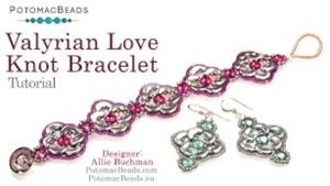How to Bead Jewelry / Videos Sorted by Beads / Par Puca® Bead Videos / Valyrian Love Knot Bracelet Tutorial