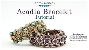 How to Bead / Videos Sorted by Beads / RounTrio® & RounTrio® Faceted Bead Videos / Acadia Bracelet Tutorial
