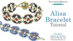 How to Bead Jewelry / Videos Sorted by Beads / StormDuo Bead Videos / Alisa Bracelet Tutorial