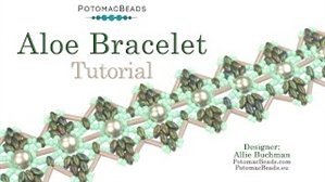 How to Bead Jewelry / Videos Sorted by Beads / RounTrio® & RounTrio® Faceted Bead Videos / Aloe Bracelet Tutorial