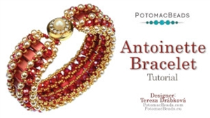 How to Bead / Videos Sorted by Beads / Potomac Crystal Videos / Antoinette Bracelet Beadweaving Tutorial