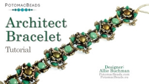 How to Bead Jewelry / Videos Sorted by Beads / CzechMates Bead Videos / Architect Bracelet Tutorial