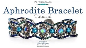 How to Bead / Videos Sorted by Beads / Diamond Shaped Bead Videos / Aphrodite Bracelet Tutorial