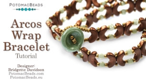 How to Bead Jewelry / Videos Sorted by Beads / Par Puca® Bead Videos / Arcos Wrap Bracelet Tutorial