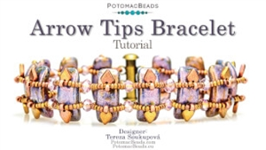 How to Bead Jewelry / Videos Sorted by Beads / Potomac Crystal Videos / Arrow Tips Bracelet Tutorial