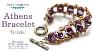 How to Bead Jewelry / Videos Sorted by Beads / Potomac Crystal Videos / Athens Bracelet Tutorial