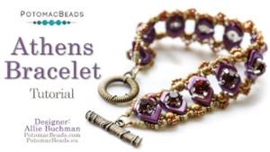 How to Bead Jewelry / Videos Sorted by Beads / RounDuo® & RounDuo® Mini Bead Videos / Athens Bracelet Tutorial