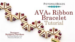 How to Bead Jewelry / Videos Sorted by Beads / Potomax Metal Bead Videos / Ava Ribbon Bracelet Tutorial