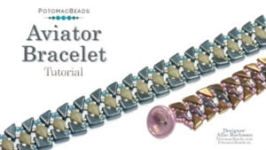 How to Bead / Videos Sorted by Beads / Diamond Shaped Bead Videos / Aviator Bracelet Tutorial