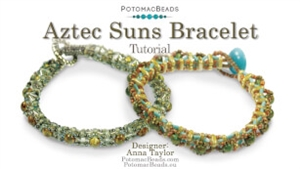 How to Bead / Videos Sorted by Beads / CzechMates Bead Videos / Aztec Suns Bracelet Tutorial