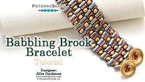How to Bead Jewelry / Videos Sorted by Beads / Tubelet Bead Videos / Babbling Brook Tubelet Peyote Bracelet Tutorial