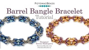 How to Bead Jewelry / Videos Sorted by Beads / StormDuo Bead Videos / Barrel Bangle Tutorial