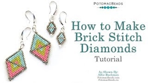 How to Bead Jewelry / Beading Tutorials & Jewel Making Videos / Earring Projects / How to Make Brick Stitch Diamonds