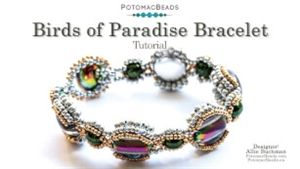 How to Bead Jewelry / Videos Sorted by Beads / RounTrio® & RounTrio® Faceted Bead Videos / Birds of Paradise Tutorial