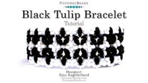 How to Bead Jewelry / Videos Sorted by Beads / SuperDuo & MiniDuo Videos / Black Tulip Bracelet Tutorial
