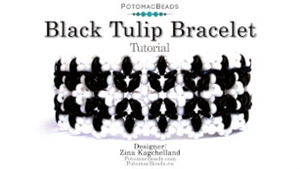 How to Bead / Videos Sorted by Beads / O Bead Videos / Black Tulip Bracelet Tutorial